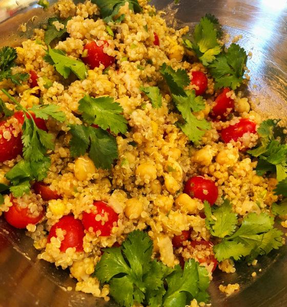 Quinoa-Chickpea warm or fall salad🍃🍅🌿