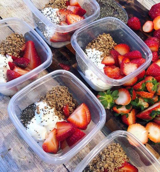 Simple Strawberry Parfait Meal Prep 🍓🍓🍓