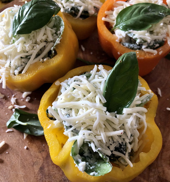 Ricotta & Spinach Stuffed Peppers